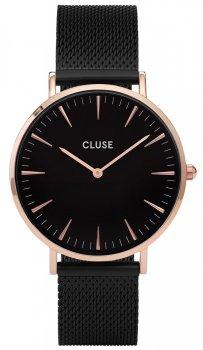 zegarek Mesh Rose Gold Black/Black Cluse CL18034