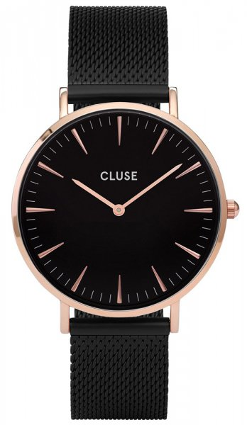 Cluse CW0101201010 La Boheme Mesh Rose Gold Black/Black