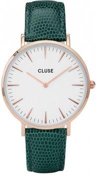 zegarek Rose Gold White/Emerald Lizard Cluse CL18038