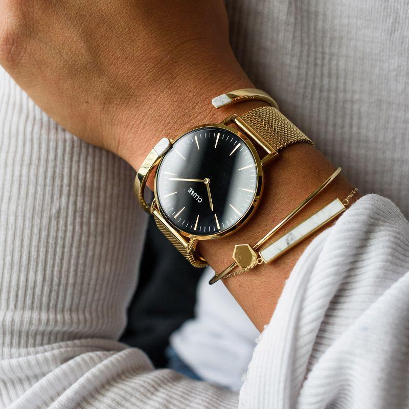 45bd42abd6f61f Cluse CL18110 Gold/Black zegarek damski - Sklep ZEGAREK.NET