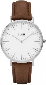 zegarek Silver White/Brown Cluse CL18210