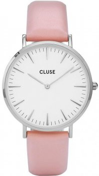 zegarek White Dial Ladies Pink Leather Cluse CL18214