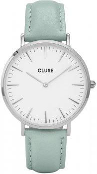 zegarek Silver White/Pastel Mint Cluse CL18225