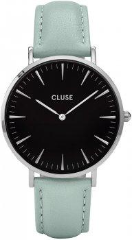 zegarek Silver Black/Pastel Mint Cluse CL18226