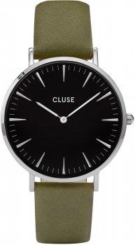 zegarek Silver Black/Olive Green Cluse CL18228