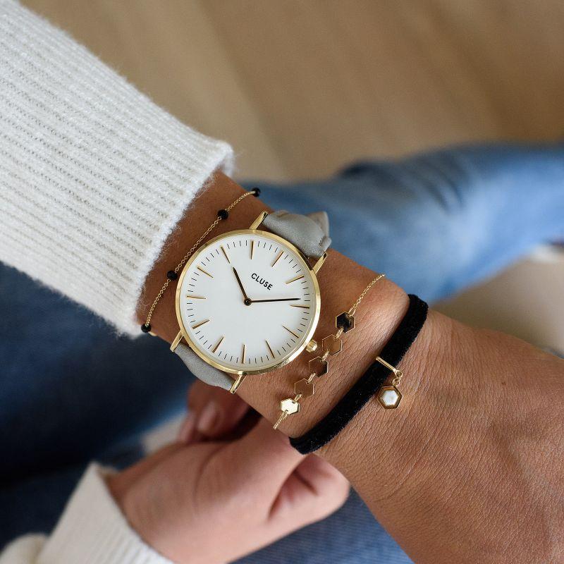 a111c67756ede5 Cluse CL18414 Gold White/Grey zegarek damski - Sklep ZEGAREK.NET
