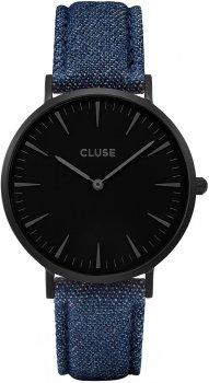 zegarek Full Black/Blue Denim Cluse CL18507