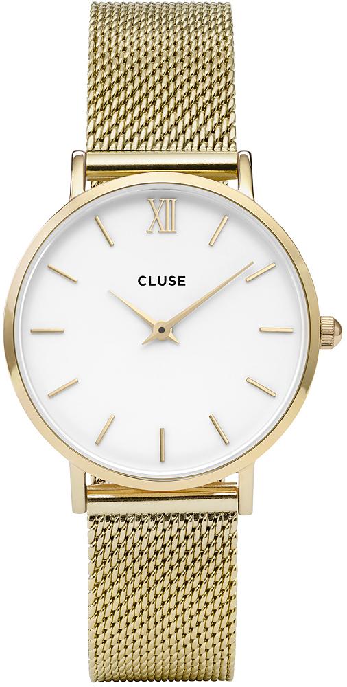 Cluse CL30010 Minuit Mesh Gold/White