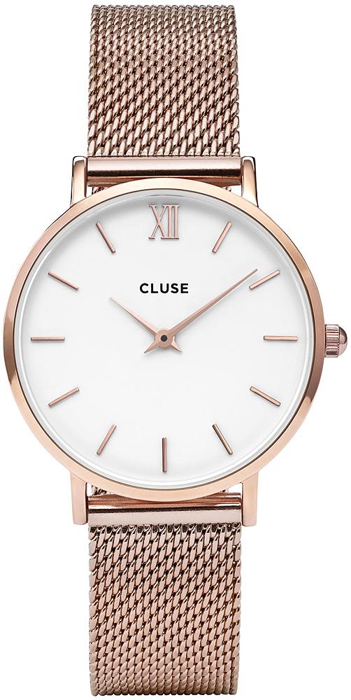 3afd686c0fff Cluse CL30013 Mesh Rose Gold White zegarek damski - Sklep ZEGAREK.NET
