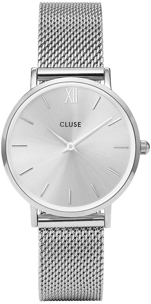Cluse CL30023 Minuit Mesh Full Silver