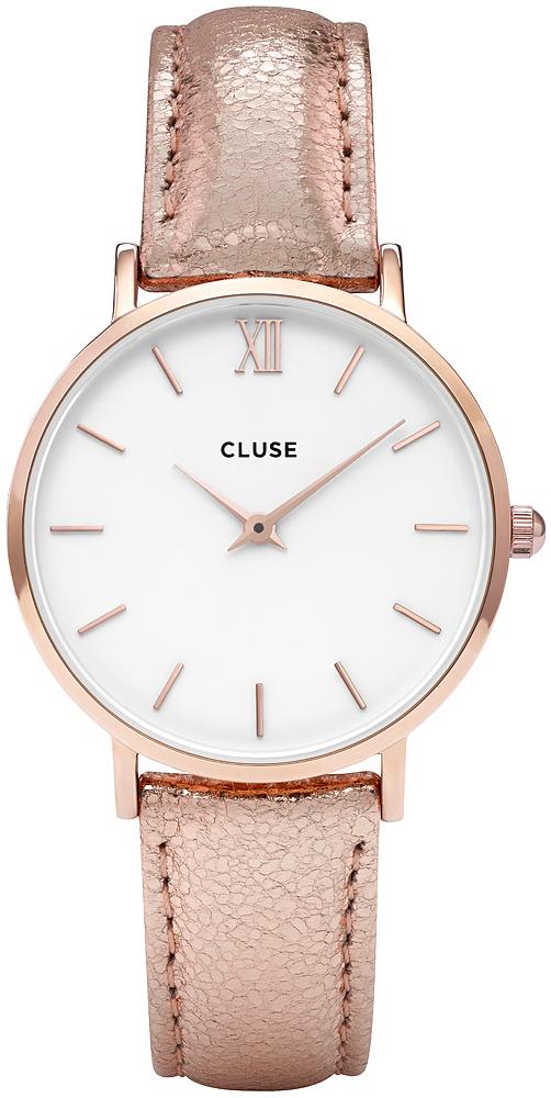 3c2c6e89dd33 Cluse CL30038 Rose Gold White Rose Gold Metallic zegarek damski ...