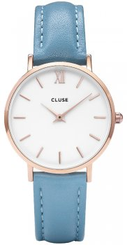 zegarek Rose Gold White/Retro Blue Cluse CL30046