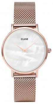 zegarek Mesh Rose Gold/White Pearl Cluse CL30047