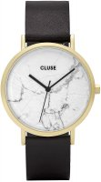 zegarek Gold White Marble/Black Cluse CL40003