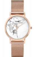 zegarek Petite Mesh Rose Gold/White Marble Cluse CL40107