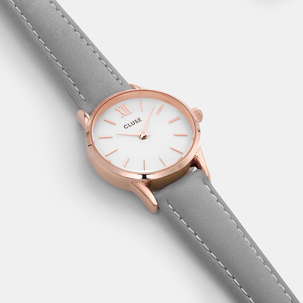 9a113d944340 Cluse CL50009 Rose Gold White Grey zegarek damski - Sklep ZEGAREK.NET