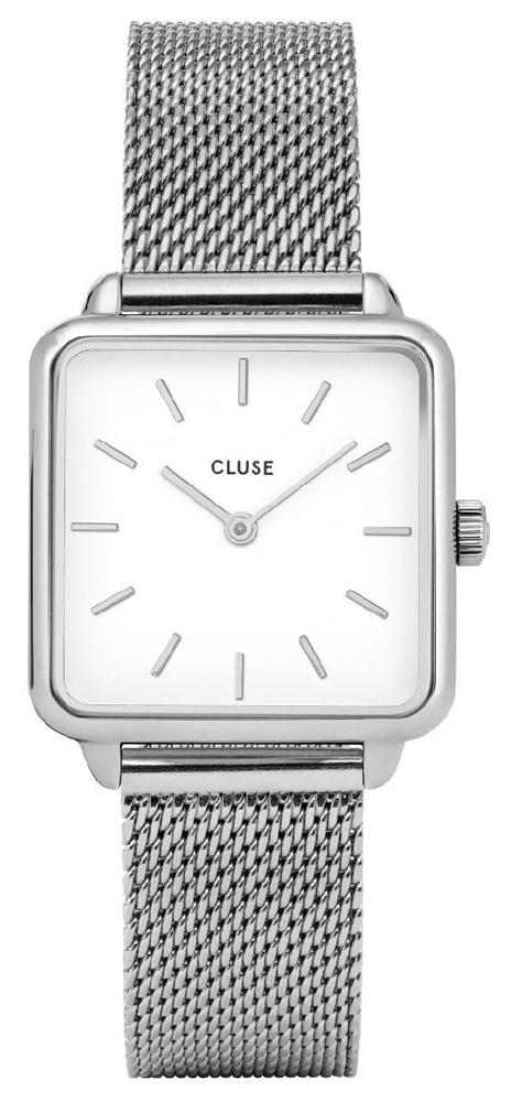 Cluse CW0101207003 La Tetragone Silver Mesh/White