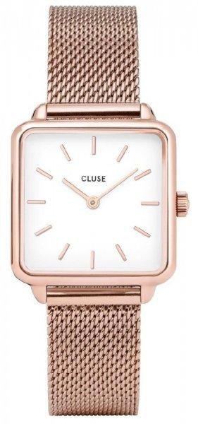 Cluse CL60003 La Tetragone Rose Gold Mesh/White