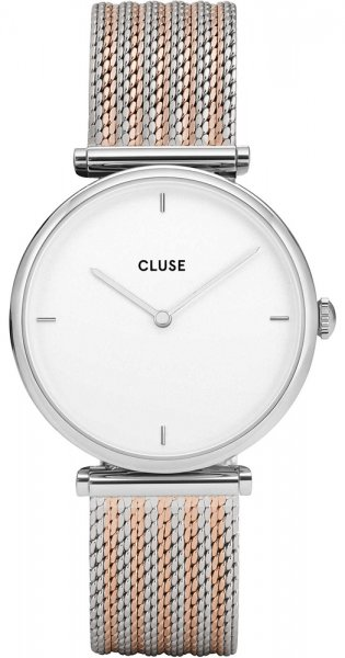 Cluse CL61001 Triomphe Silver White/Silver Rose Gold