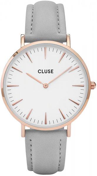 Cluse CLA001 La Boheme Rose Gold White/Grey + Black Strap