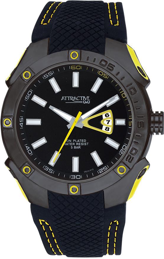 Zegarek męski QQ męskie DB24-512 - duże 1