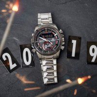 Zegarek męski Casio EDIFICE edifice premium ECB-800DB-1AEF - duże 2