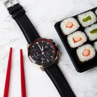 Zegarek męski Casio edifice premium EQS-600BL-1AUEF - duże 2