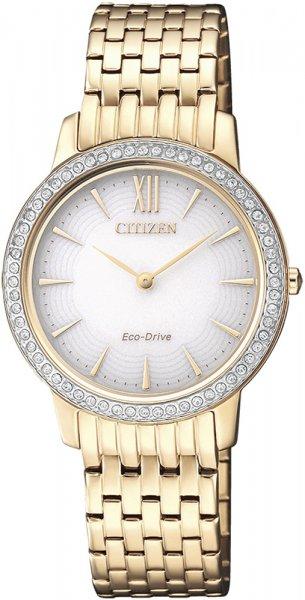 Zegarek damski Citizen ecodrive EX1483-84A - duże 1