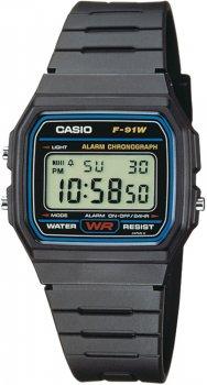 zegarek męski Casio Retro F-91W-1YER