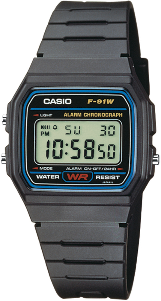 Zegarek Casio RETRO F-91W-1YER - duże 1