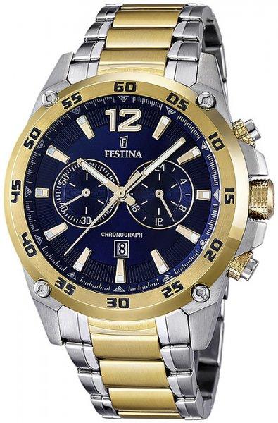 Zegarek męski Festina chronograf F16681-2 - duże 1