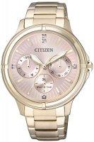 Zegarek damski Citizen elegance FD2033-52W - duże 1