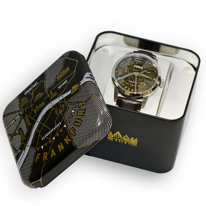 Zegarek oraz opakowanie zainspirowane Frankfurtem.