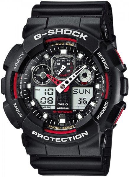Zegarek męski Casio G-SHOCK g-shock original GA-100-1A4ER - duże 1