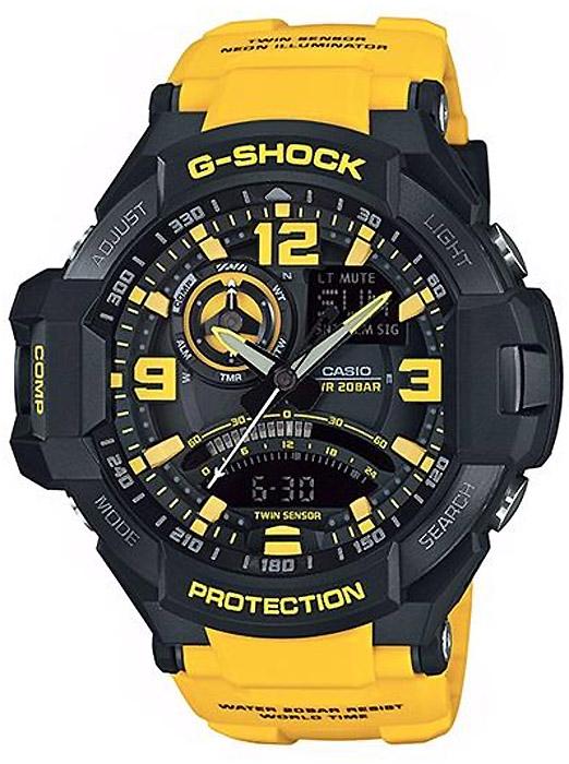 GA-1000-9BER - zegarek męski - duże 3