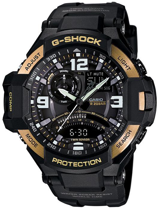 GA-1000-9GER - zegarek męski - duże 3