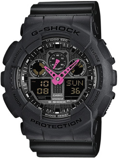 Zegarek męski Casio G-SHOCK g-shock original GA-100C-1A4ER - duże 1