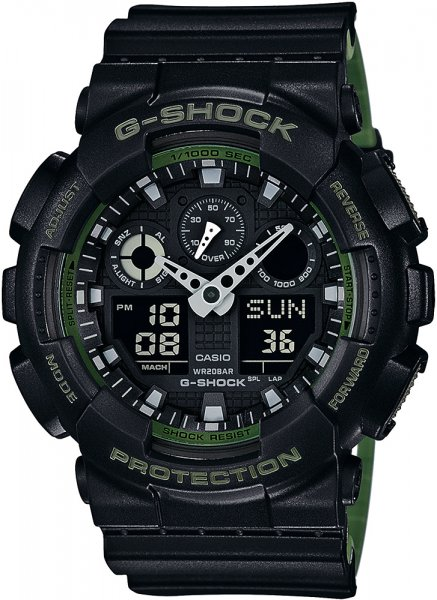Zegarek męski Casio G-SHOCK g-shock original GA-100L-1AER - duże 3
