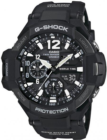 GA-1100-1AER - zegarek męski - duże 3