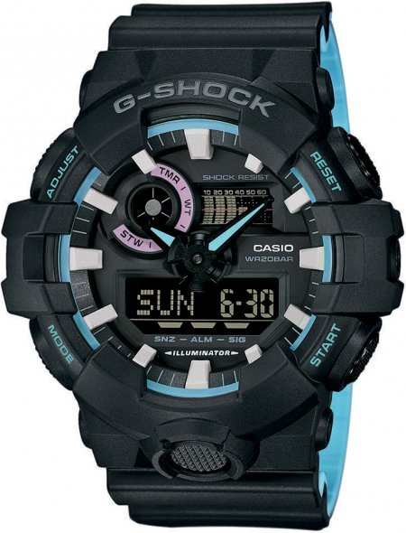 G-Shock GA-700PC-1AER G-SHOCK Style Pearl Blue Neon Accent Collection