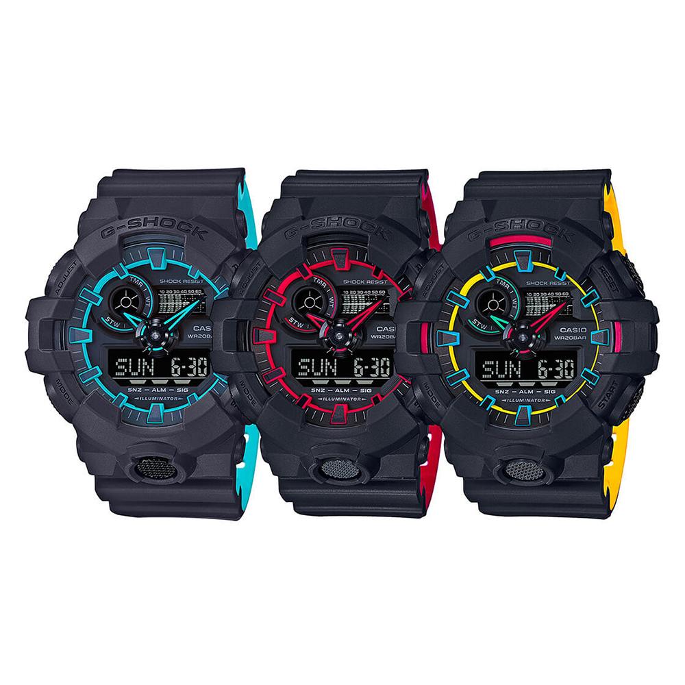 fef63c47378c12 Casio GA-700SE-1A2ER NO COMPLY NEON LAYERED zegarek męski - Sklep ...