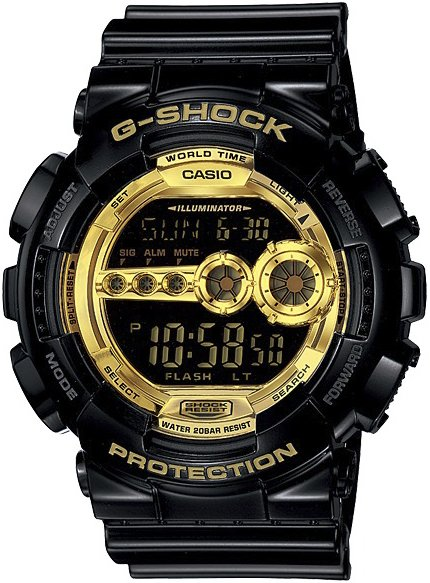 G-Shock GD-100GB-1ER G-SHOCK Style BLACK AND GOLD