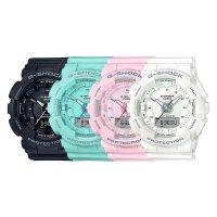 Zegarek damski Casio g-shock GMA-S130-1AER - duże 2