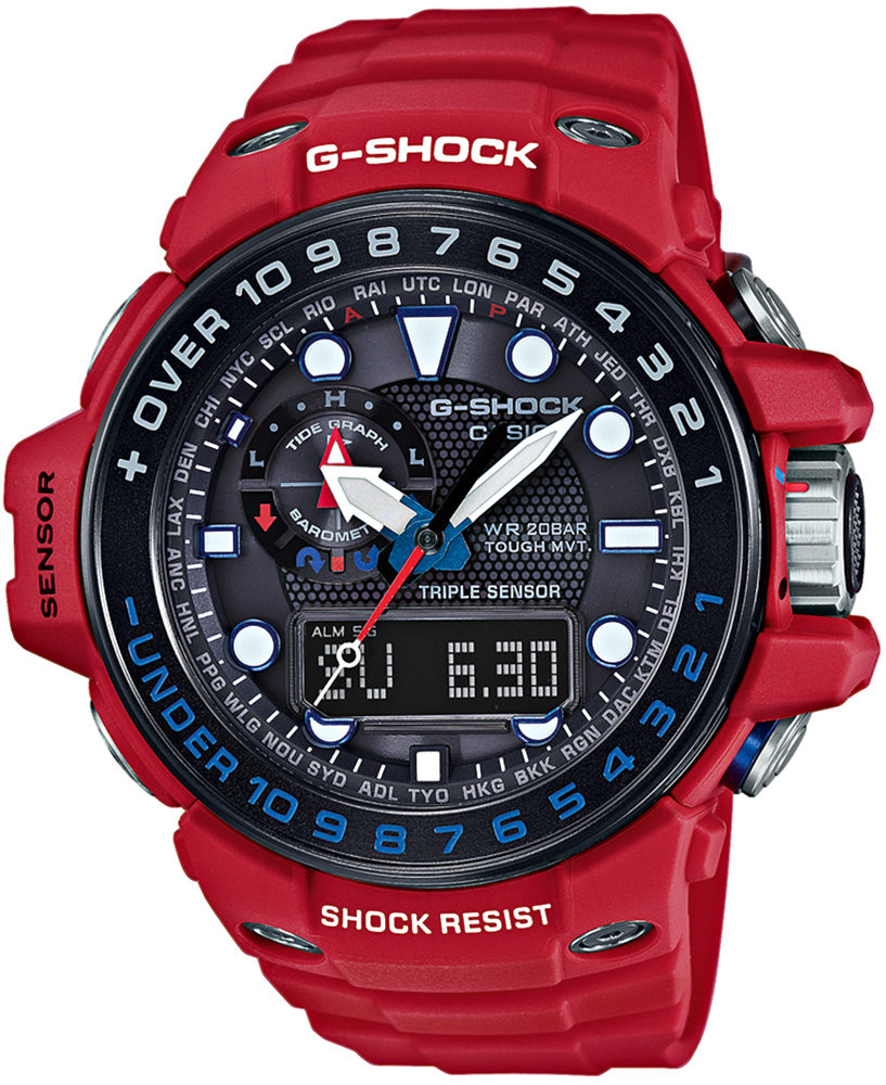 Zegarek Casio G-SHOCK GWN-1000RD-4AER - duże 1