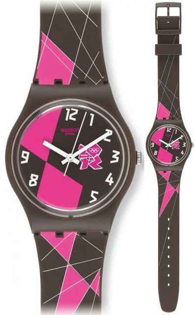 Swatch GZ266 Olympic Games 2012 Olympic 2012 Brown