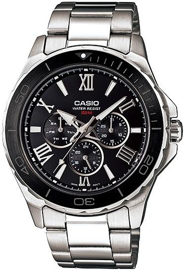 Zegarek męski Casio klasyczne MTD-1075D-1A1VEF - duże 1