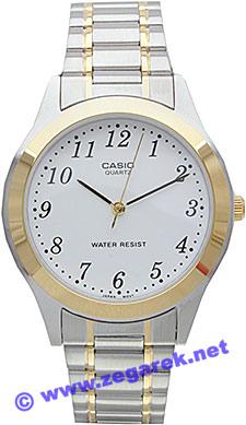 Zegarek męski Casio klasyczne MTP-1128G-7B - duże 1