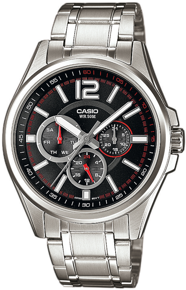 MTP-1355D-1AVEF - zegarek męski - duże 3