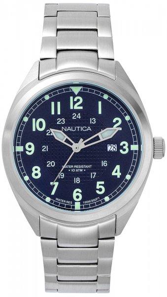 Nautica NAPBTP004 Bransoleta Battery Park Water Resistant Stainless Steel Watch
