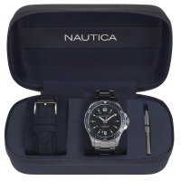 Zegarek męski Nautica bransoleta NAPFRB013 - duże 2